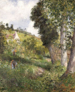 Landscape 'With Cabbage' Near Pontoise, Circa 1878 by Camille Pissarro