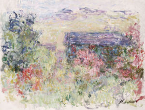 The House Through The Roses, Circa 1925 by Claude Monet