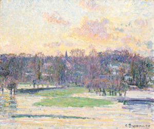 Flood at Sunset, 1893 by Camille Pissarro