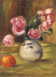 Vase De Roses Et Orange, 1910 by Pierre Auguste Renoir