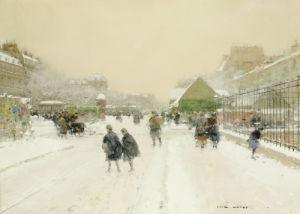 Paris In The Snow by Luigi Aloys-François-Joseph Loir