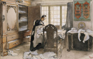 Karin By The Linen Cupboard,1906 by Carl Larsson
