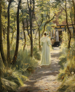 Marie In The Garden, 1895 by Peder Severin Kröyer