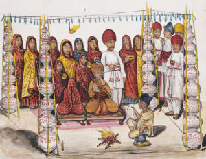 Scenes From A Marriage Ceremony: The Betrothal; Kutch School, Circa 1845 by Christie's Images
