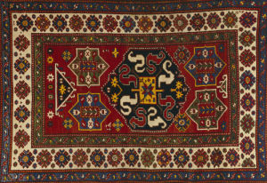 An Unusual Antique Chondzorek Kazak Rug by Christie's Images