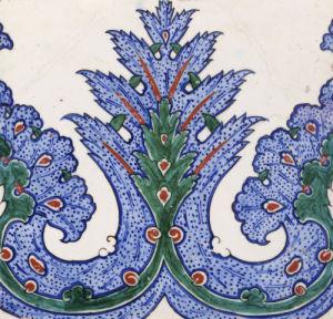 An Iznik Pottery Square Border Tile, Circa 1560 by Christie's Images