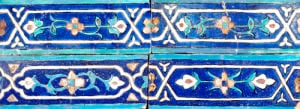 Four Timurid Cuerda Seca Pottery Tiles by Christie's Images