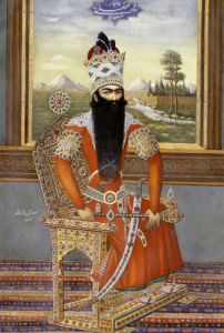 Portrait Of Sultan Fath Ali Shah Qajar, Persia, Qajar, Circa 1850 by Christie's Images