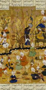 Illustration To The Shahnameh. Persia, Shiraz, c.1539 by Murhid Al Kabib Al Shirazi