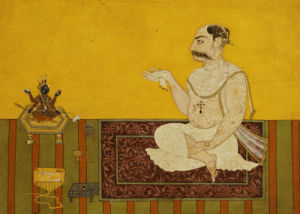 A Portrait Of Raja Kirpal Of Basohli, Circa 1690 by Christie's Images