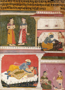 Illustration From The Rasikapriya Of Keshau Das. Mewar by Christie's Images