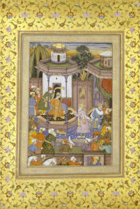 A Prince Giving Audience Mughal by Christie's Images