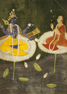 Krishna And Tadha Enthroned. Mankot Or Bilaspur, Circa 1700 by Christie's Images