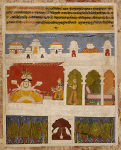 A Lady On A Terrace Offers The Ancient Vedic Ritual Sacrifice To Brahma, C. 1725 by Christie's Images