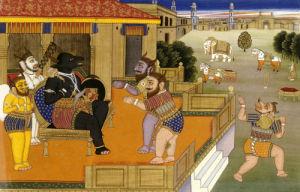 Illustration Mahabharata. Jaipur, Circa 1800 by Christie's Images