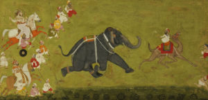 Maharaja Jagat Singh Pursuing An Escaped Elephant by Christie's Images