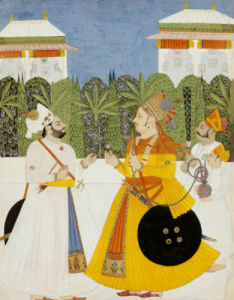 Maharaja Bhim Singh Receiving Maharaja Shiv Singh Nagaur, Circa 1750 by Christie's Images
