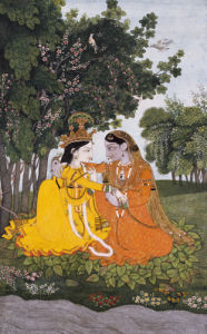 Lovers In A Forest. Kangra, Circa 1800 by Christie's Images