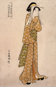 The Streetwalker Okane Of Dotombori In Osaka by Chokyosai Eiri