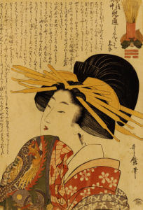 A Courtesan Raising Her Sleeve by Kitagawa Utamaro
