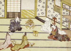 The Wedding. From the Set, The Fox's Wedding, c. 1765 by Tachibana Minko