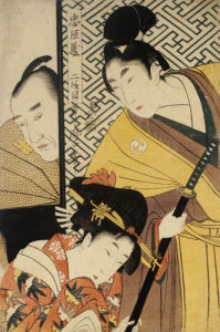 Act II Of Chushingura, The Young Samurai Rikiya by Kitagawa Utamaro