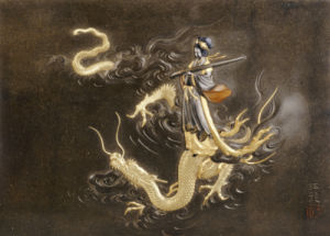 Benten Standing On The Back Of A Dragon by Christie's Images