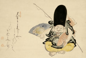 Ebisu Dancing With A Poem by Hakuin Ekaku