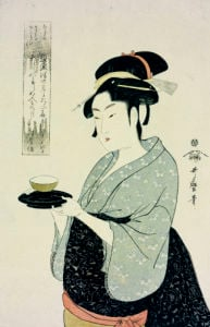 Portrait Of Naniwaya Okita, Depicting The Famous Teahouse by Kitagawa Utamaro