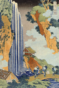 Ono Waterfall, The Kiso Highway by Katsushika Hokusai