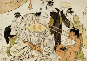 A Game Of Neck Pull (Kubippiki) Between The Ozeki Tanikaze And Kintaro by Kitagawa Utamaro