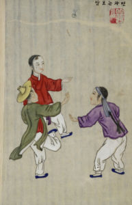 Playing The Game Of Chaegi. From An Album Of Scenes Of Daily Life by Kim Junkeun