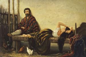 China Descansando, 1860 by Juan Leon Palliere