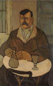 Man In A Cafe. Rafael, 1922 by Rafael Perez Barradas