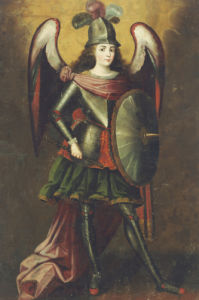 Archangel Michael. Arcangel Miguel by Cuzco School