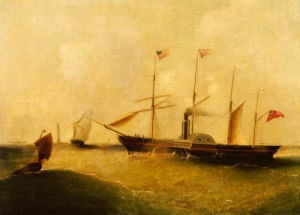 The Great Western, Designed By Brunel, Passing Bishops Rock Lighthouse by Christie's Images