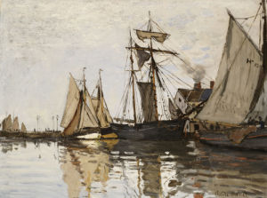 The Port Of Honfleur, Circa 1865 by Claude Monet