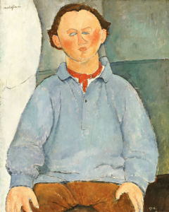 Portrait Of Sculptor Oscar Miestchanioff, Circa 1916 by Amedeo Modigliani