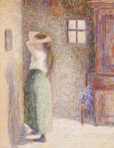 Country Girl At Her Toilet, 1888 by Camille Pissarro