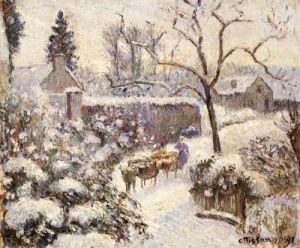 Snow At Montfoucault, 1891 by Camille Pissarro