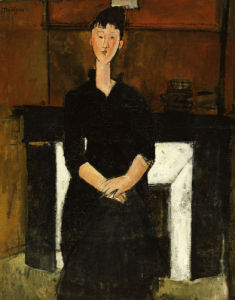 Woman Sat By A Fireplace, 1915 by Amedeo Modigliani