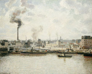 Quay At Saint-Sever, Rouen, 1896 by Camille Pissarro