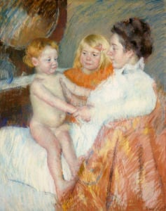 Mother, Sara And The Baby by Mary Cassatt