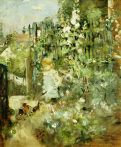 A Child In the Rosebeds, 1881 by Berthe Morisot