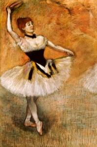 Dancer With A Tambourine, 1882 by Edgar Degas