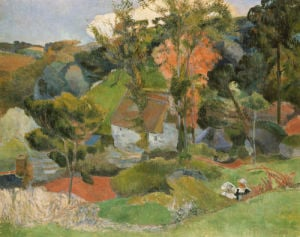 Landscape At Pont Aven, 1888 by Paul Gauguin