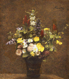 Wild Flowers by Ignace-Henri-Théodore Fantin-Latour