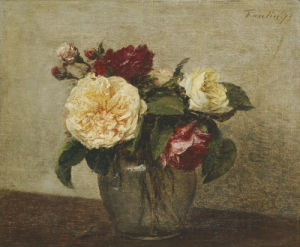 Red And Yellow Roses, 1879 by Ignace-Henri-Théodore Fantin-Latour