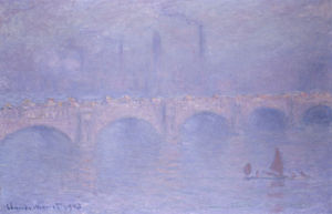 Waterloo Bridge, Misty Sunshine by Claude Monet