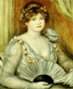 Woman With A Fan by Pierre Auguste Renoir